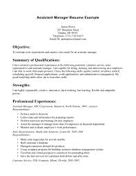 effective assistant manager resume example simple objective effective assistant manager resume example simple objective and detailed summary of qualifications