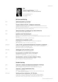 new resume samples architect cv bio cv anders krogdal