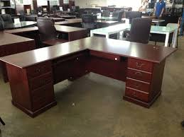 wonderful natural brown wood l shaped desk by sauder furniture for home office furniture ideas chic lshaped office desk