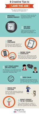 infographic creative tips to land the job infographics king infographic 8 creative tips to land the job