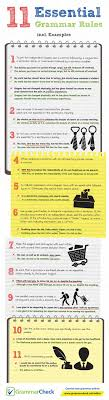 best ideas about grammar check grammar english 11 essential grammar rules incl examples infographic