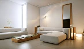 appealing interior living room style design with white sectional sofa along wooden small long coffee table architectural mirrored furniture design ideas wood