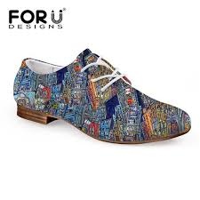 <b>FORUDESIGNS</b> 2017 Spring Women's Oxfords Shoes <b>3D</b> Painting ...