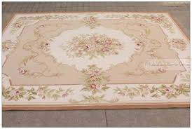 8x10 wool hand woven shabby chic french style aubusson area rug carpet chic shabby french style