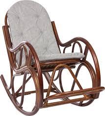 <b>Кресло</b>-<b>качалка Classic</b>, с подушкой, коньяк