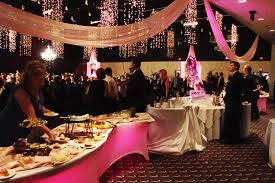 pink uplighting under table beautiful color table uplighting