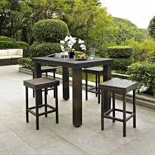 wicker bar height dining table: crosley furniture palm harbor  piece outdoor wicker high dining set walmartcom