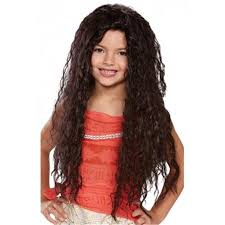 <b>Disguise</b> DG21193 <b>Girls</b> Moana Deluxe Wig, Brown