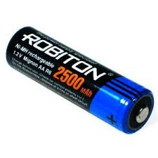 <b>Аккумулятор ROBITON AA</b> 2500mAh Ni-Mh 1шт - Батарейки и ...