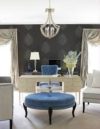 glamorous home office example of a transitional home office design in other with gray walls carpet atherton library traditional home office