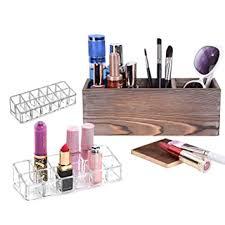 Amazon.com: 3 Slots <b>Makeup</b> Brush Holder and <b>2</b> Pcs 12 <b>Holes</b> ...