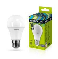 Электрическая <b>светодиодная лампа Ergolux LED</b>-<b>A60</b>-<b>10W</b>-E27 ...
