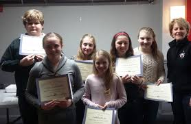 barre elks lodge 1535 welcomed six americanism essay winners the certificates