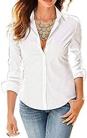 <b>Womens Summer</b> Casual <b>OL Office</b> Long Sleeve Sheer Chiffon Shirts