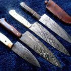 9 to <b>12 inches custom</b> Made Damascus $ pieces Chef Knives Set ...