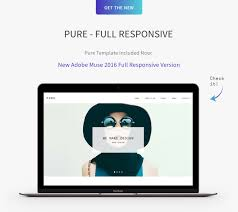 pure responsive creative portfolio muse template by museframe muse 2015 version templates come desktop tablet and mobile layout and new included the new adobe muse 2016 full responsive templates