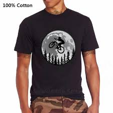 <b>Vintage MTB Mountain Bike</b> T shirt Funny <b>Moon</b> Cycling Apparel ...