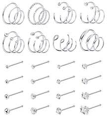 Jstyle 40Pcs C-Shaped Nose Ring Hoop for Mens ... - Amazon.com