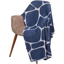 <b>Плед Giraffe</b>, <b>бежевый с</b> синим - Интернет-магазин Gen.RU