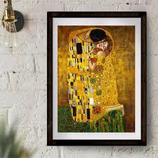 <b>Gustav Klimt Kiss Classic</b> Art Painting Print Canvas Art Poster Wall ...