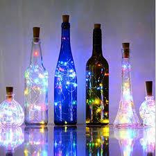 2M 20 LEDS Wine Bottle <b>Lights</b> With Cork Built In Battery LED Cork ...