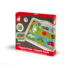 Happy <b>Garden</b> Magnetic Puzzle <b>9 pieces</b> (wood)