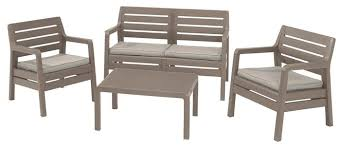 <b>Комплект мебели Allibert Delano</b> Set (диван, 2 кресла, стол ...