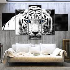Blue Eyed White Tiger White Tiger Eyes <b>5 Panel HD Print</b> modern ...