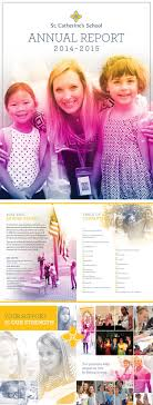 17 best ideas about annual report covers annual annual report cover and spreads for st catherine s school design by raison in