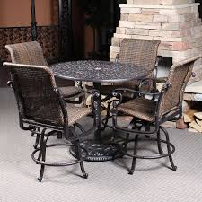 bar height patio chair: florence woven bar height patio set by gensun family leisure