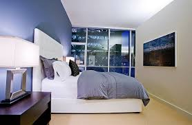 colors room stylish wall view in gallery use lighting to alter the shade of the blue in the bed