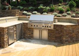 patio outdoor stone kitchen bar:  images about bbq on pinterest outdoor bbq kitchen decks and simple outdoor kitchen