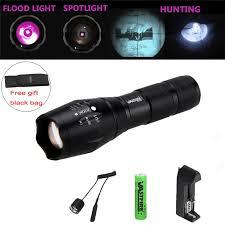 IR 850nm 5W Tactica <b>Flashlight</b> Zoomable 18650 Night Vision ...