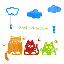 <b>Lucky cat 3D</b> Acrylic mirror Wall Stickers For kids room Children ...