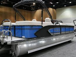 2020 Manitou 25 Encore Light Blue/<b>Black</b> Power <b>Boats Outboard</b> ...