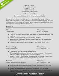 how to write a perfect cosmetology resume examples included cosmetology resume experienced hair stylist