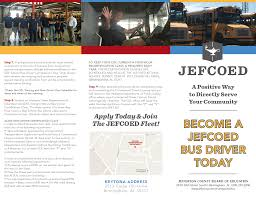 becoming a bus driver jefferson county schools become a bus driver today brochure
