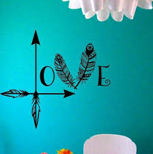 sun wall decal trendy designs: arrow feather love wall decal namaste vinyl sticker art decor bedroom design mural home decor room decor trendy modern by stateofthewall on etsy