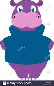 <b>Fat hippo</b>, illustration, vector on white background Stock Vector Art ...