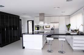 white modern kitchen large