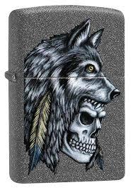 <b>Зажигалка Wolf Skull</b> Feather Design <b>ZIPPO</b> 29863 купить в Калуге ...
