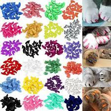 VICTHY 140pcs Cat Nail Caps, Colorful Pet Cat Soft ... - Amazon.com