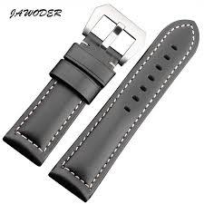 JAWODER <b>Watchband</b> 22 24 26mm Men <b>Black Brown Smooth</b> ...
