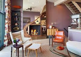 walls living room purple decorations view in gallery purple wall and orange accents for a trendy living roo