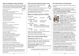 fun run saint paul s church blog this weeks notice sheet for the second sunday of easter