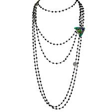 <b>Dzhanelli</b> JewelleryСотуар из черной шпинели с заколкой |