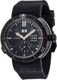 CCCP CP-7006-03 Mens Kashalot Black Automatic ... - Amazon.com