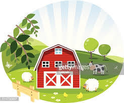 Image result for red and green barn