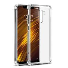 Soft <b>Transparent</b> Cover Pocophone F1 Case <b>Airbag Shockproof</b> ...