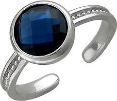 Серебряное <b>кольцо Эстет 01K258035</b> с ювелирным стеклом ...